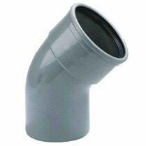 BOCHT ROND PVC GRIJS 110MM 45° MOF/SPIE