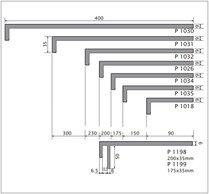 DEEPLAS HOEKPANEEL P1032 ANTRACIET GRIJS 6072